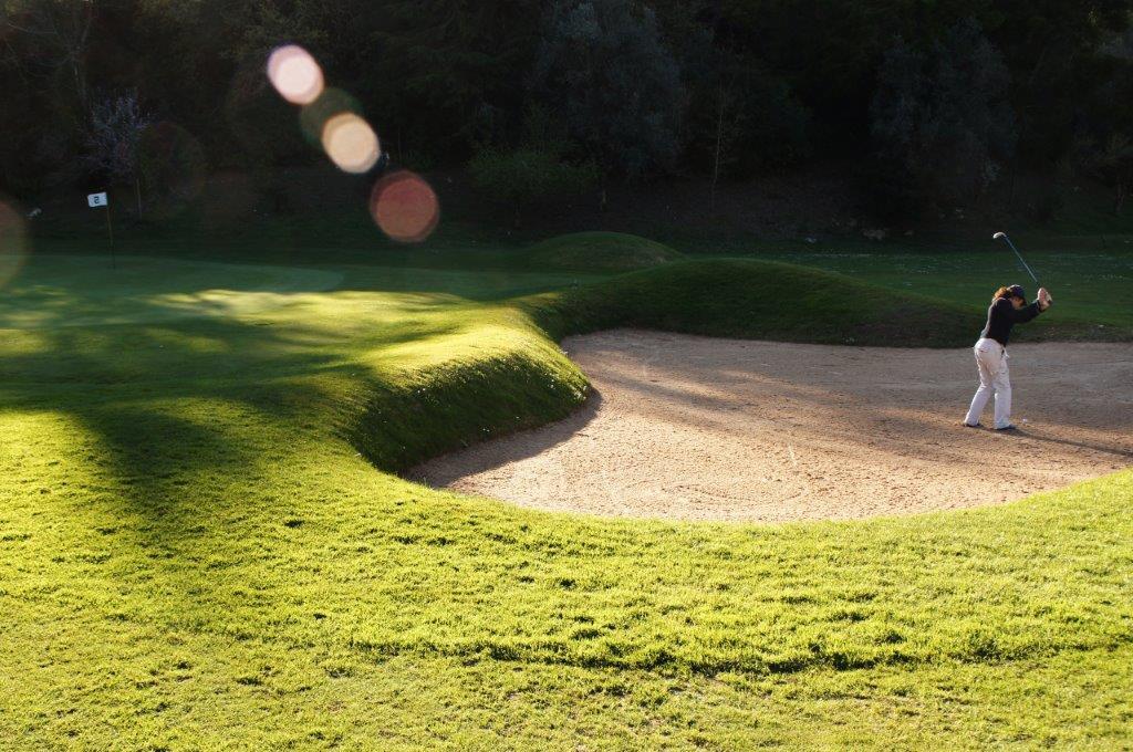 Bunker du golf Lisbon Sports Club au Portugal