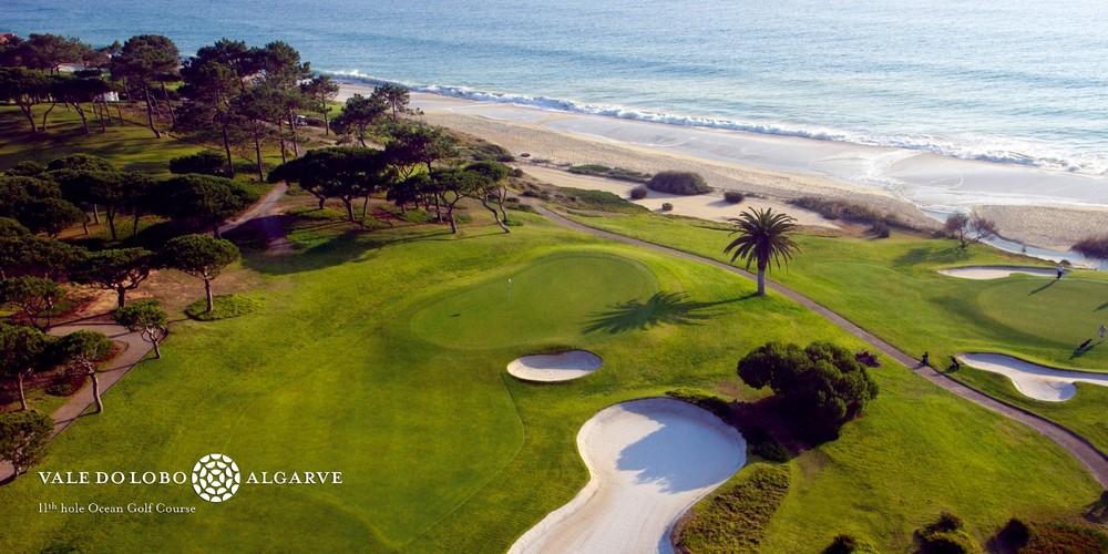 La vue aérienne du golf de Vale Lobo Océan au Portugal