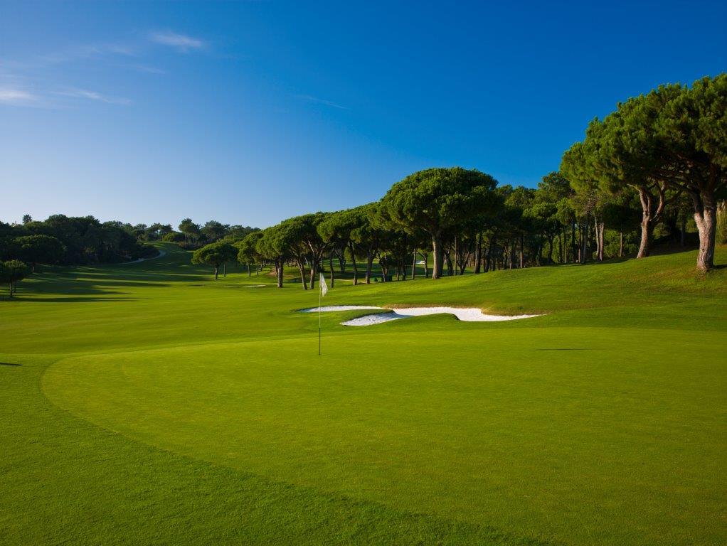 Green du golf de Quinta do Logo Sur au Portugal