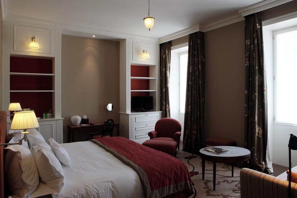 Une chambre de l'hôtel Vidago.