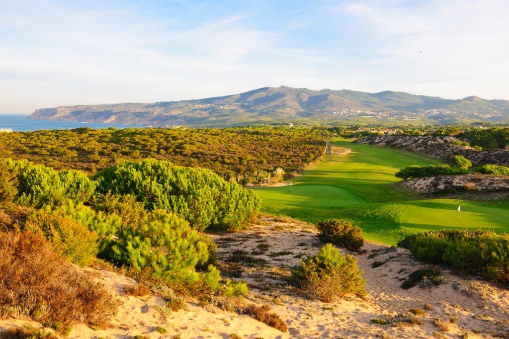 Panorama du golf d'Oitavos Dunes au Portugal