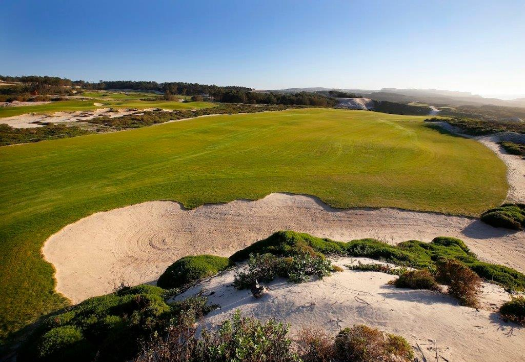 Bunker du golf de West Cliff au Portugal