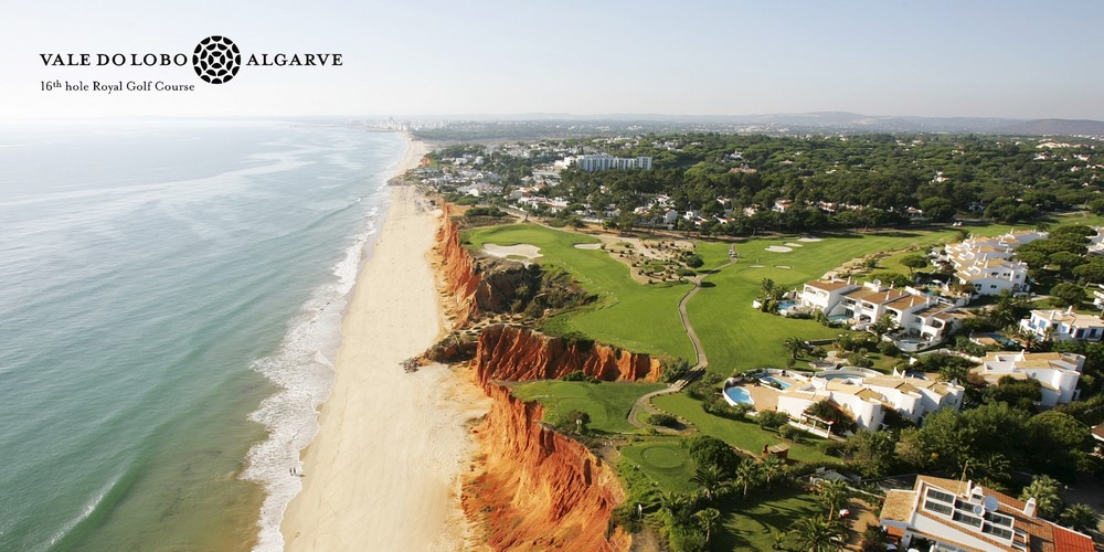 La vue aérienne du golf de Vale do Lobo Royal.