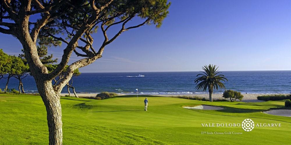 Le fairway du golf de Vale Lobo Océan au Portugal
