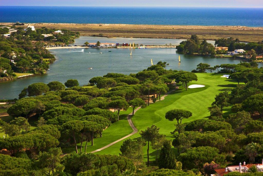 Panorama du golf de Quinta do Logo Sur au Portugal
