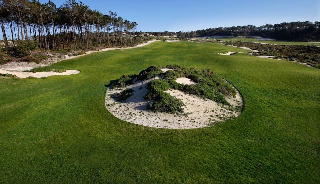 Motte du golf de West Cliff au Portugal