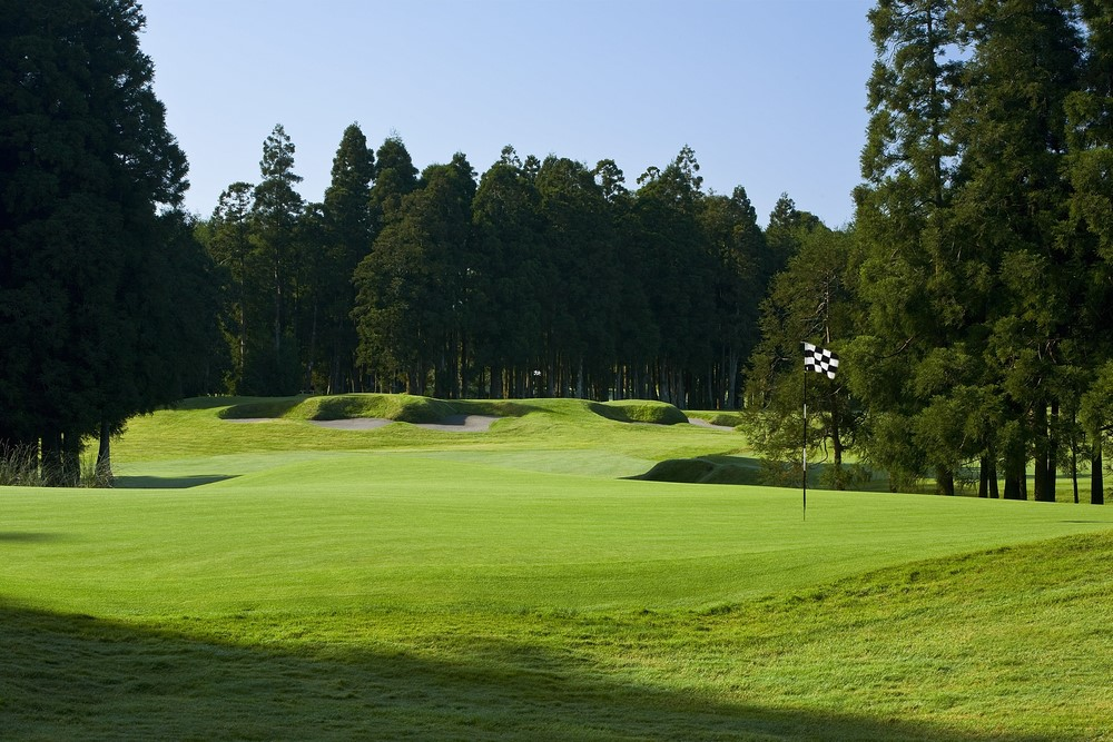 Le trou 4 du golf de Furnas au Portugal
