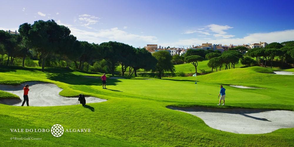 Le green du golf de Vale Lobo Océan au Portugal