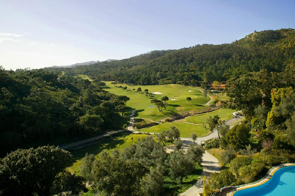 La vue aérienne du golf de Penha Longa.