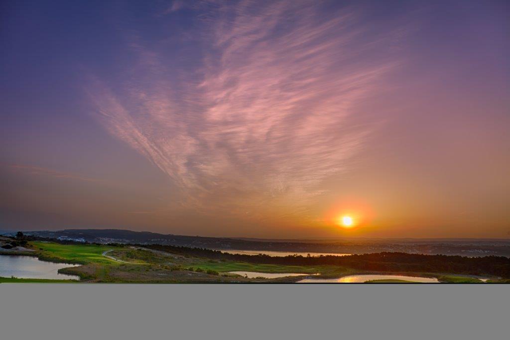 Crépuscule sur le golf Royal Obidos au portugal