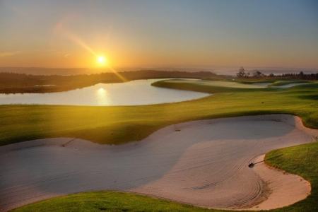 Bunkers du golf de Royal Obidos au Portugal