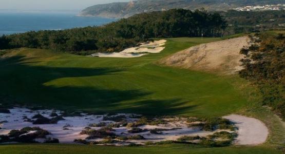 Green avec vue sur mer au golf de West Cliff au Portugal