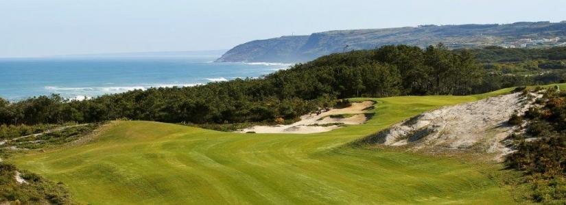 Vue sur mer du golf de West Cliff au Portugal