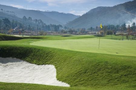 Un green du golf de Vidago au Portugal