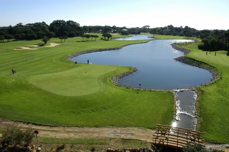 L'étang du golf Quinta Marinha.