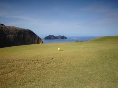 Depart du golf de Porto Santo au Portugal