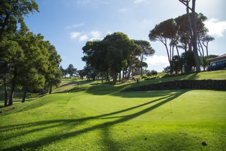 Le fairway du golf de Palheiro.