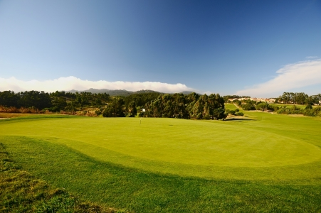 Green du golf de Oitavos Dunes au Portugal