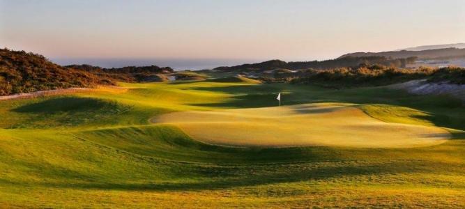 Green du golf de West Cliff au Portugal