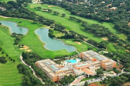 La vue aérienne du golf Quinta da Marinha