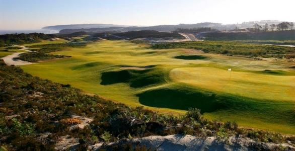 Panorama du golf de West Cliff au Portugal