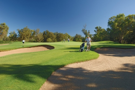 Des bunkers du golf de Penina Championship au Portugal