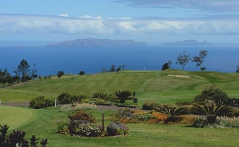 La vue du golf Santo Serra.