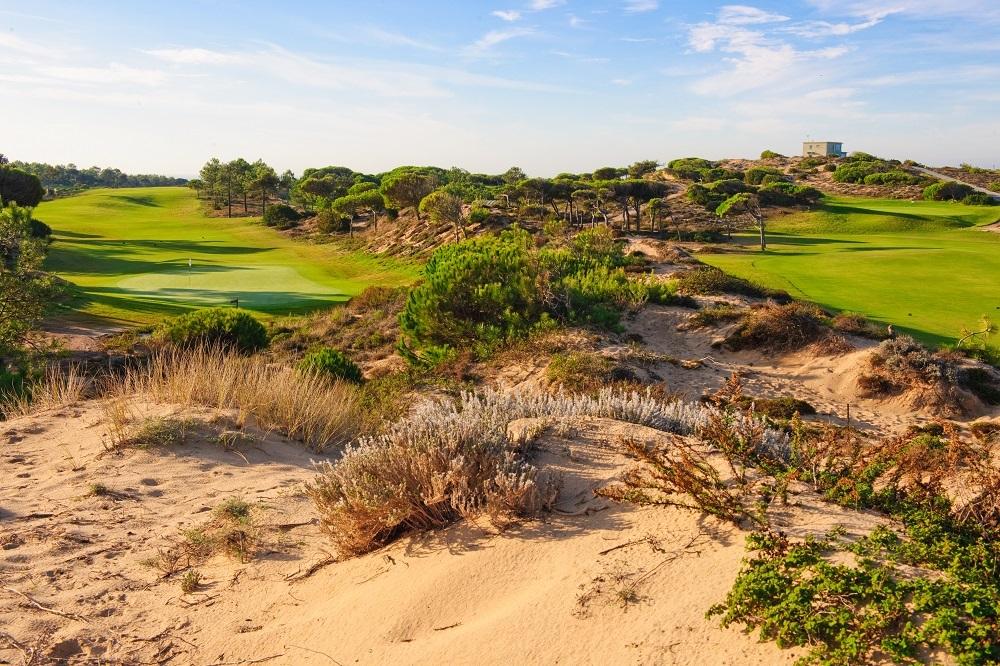 Le sable du golf d'Oitavos Dunes au Portugal