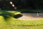 Sortie de bunker sur le golf du Lisbon Sports Club